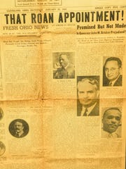 Newspaper article that shows Sanford Roan when was