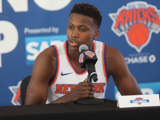Knicks rookie Frank Ntilikina.