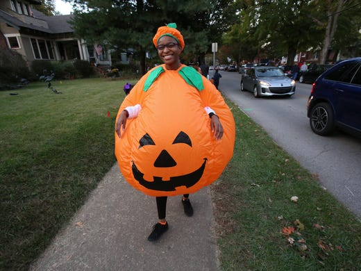 brittany taylor was decked out in a jack o lantern