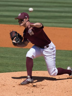 Mississippi State's Jake Mangum posted his longest outing of the year (five innings) on Saturday.