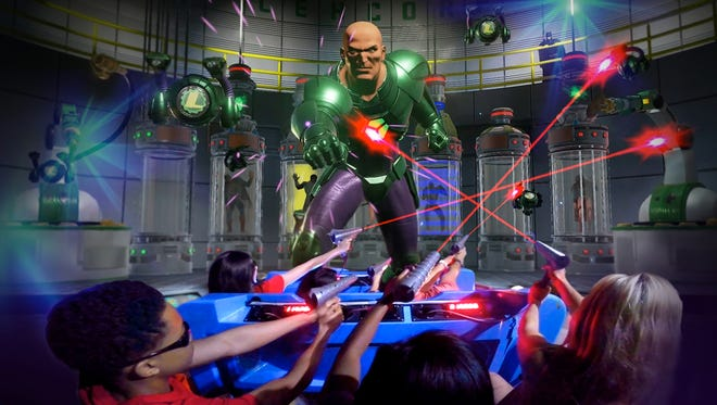 Face off against Lex Luthor at Six Flags Great Adventure's Justice League: Battle for Metropolis.