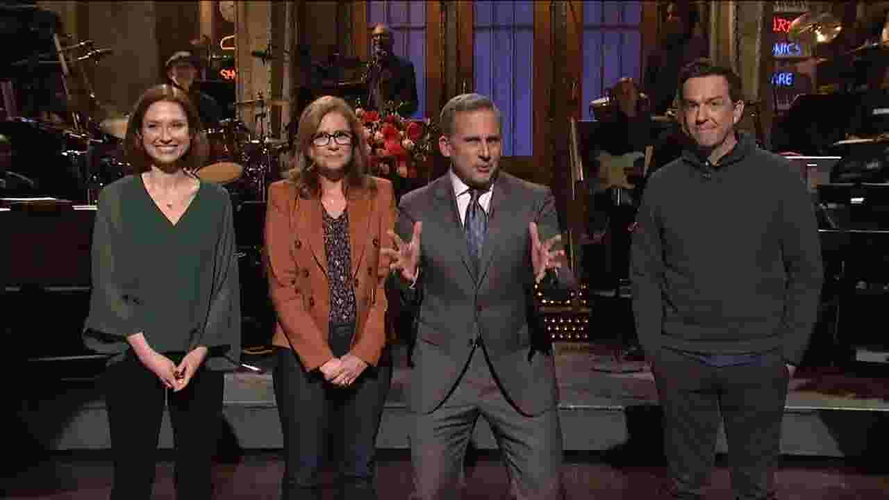 snl steve carell teases the office reboot during cast reunion