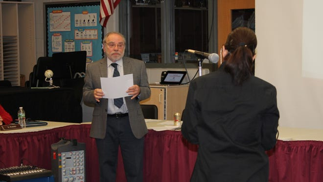 Demographer Ross Haber addresses questions at Monday's Nutley Board of Education meeting.
