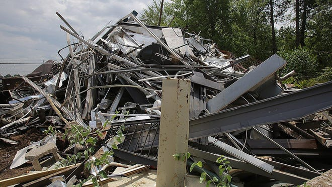 The pile of scrap metal is growing out of control at the Canton Service Center.