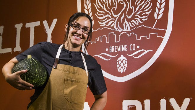 Tamara Stanger is the head chef at Helio Basin Brewing Co. in Phoenix, Thursday, May 31, 2018.