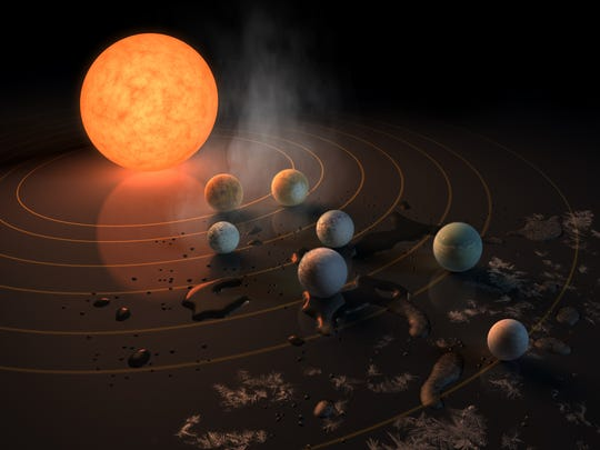 Artist concept of the TRAPPIST-1 star, an ultra-cool