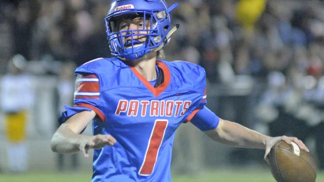 West End's Eli Pearce throws a pass against Glencoe during a high school football game at Patriot Stadium in Walnut Grove on Nov. 1.