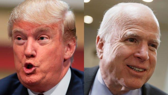 Donald Trump and John McCain. (AP)