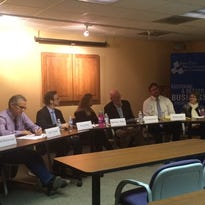 All eight Iowa City Council candidates attended a forum Tuesday at the Iowa City Area Chamber of Commerce.