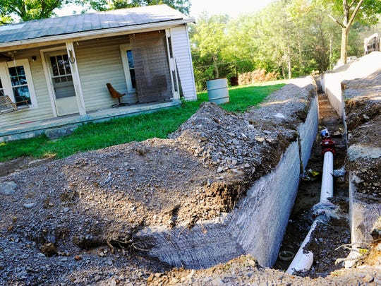 New water lines being dug for eastern Wilson County.