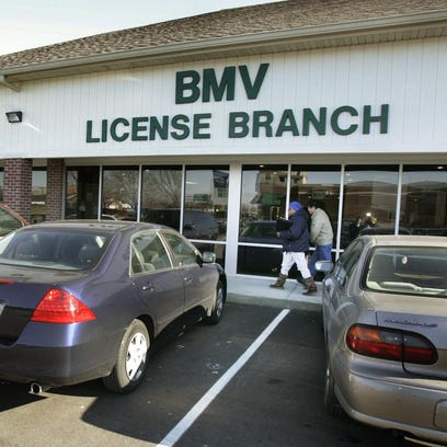 Photos shows exterior of the Indiana BMV branch at