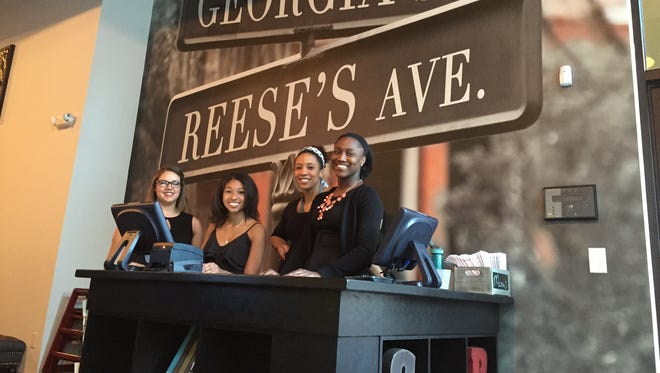 The welcoming crew at the entrance to Georgia Reese's Downtown location.