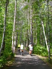 The Heart of Vilas County Bike Trail travels for 45 miles in Vilas County.