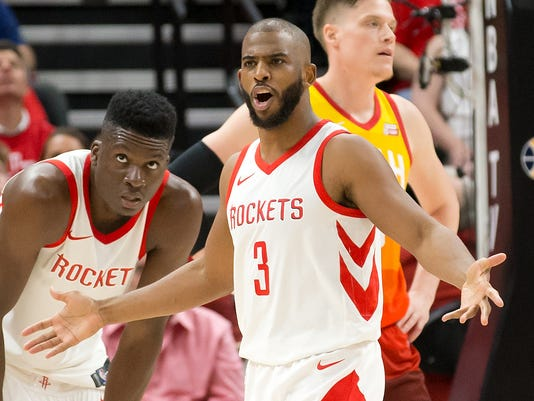 USP NBA: PLAYOFFS-HOUSTON ROCKETS AT UTAH JAZZ S BKN UTA HOU USA UT