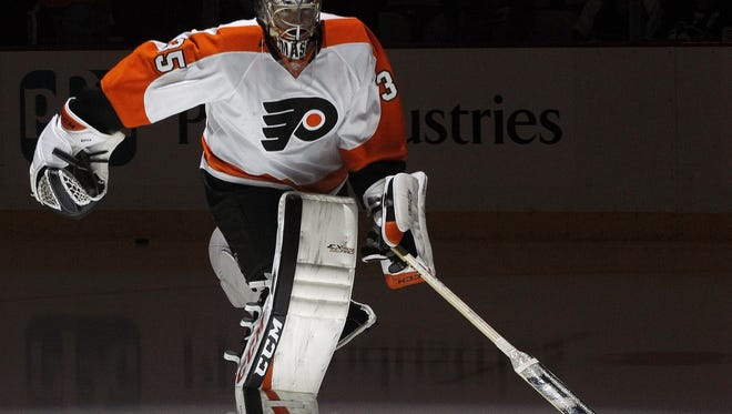 Steve Mason made 20 saves on 22 shots before leaving the game.