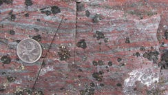 Jasper banded iron formation from the Nuvvuagittuq