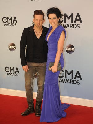Thompson Square duo, Keifer and Shawna Thompson, pause on the Red Carpet at the 47th annual CMA Awards in this file photo. Thompson Square will perform a concert to benefit the Children's Tumor Foundation May 6, 2019, at Franklin Theatre in Franklin.