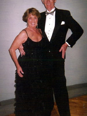 Bill and Barbara Baltusnik pose in May 2005 at a dinner dance at the Kallet Civic Center in Oneida.