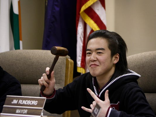 Students from Japan visit DeWitt City Hall and Police Department
