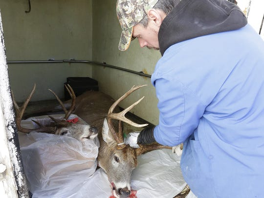 Jeff Duehring of Eden Meat Market looks over a 10-point