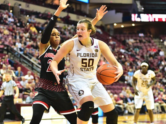 Florida State senior center Chatrice White (50) hopes to provide a noteworthy spark for the Seminoles front court.
