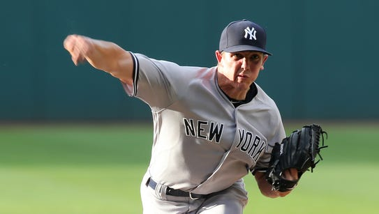 New York Yankees' Chad Green pitches in the first inning