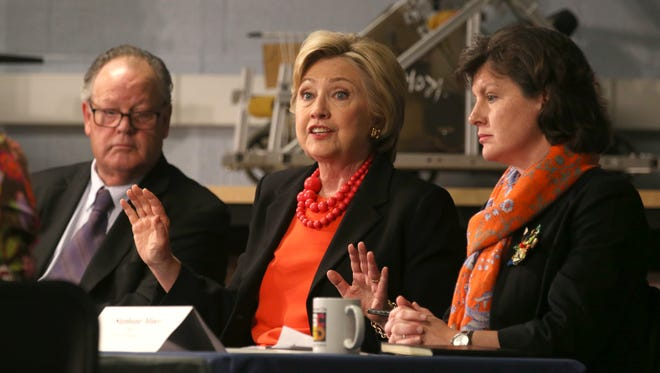 Hillary Clinton talks innovative partnerships in Syracuse on April 1, 2016.