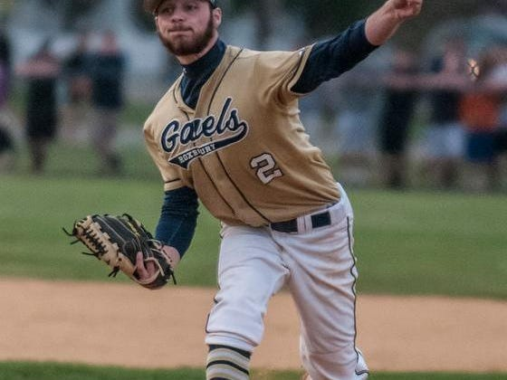 Roxbury's Alex Busby pitches against Delbarton during the Morris County Tournament final on Saturday.
