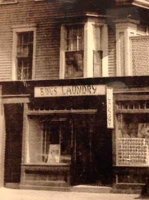 Bings Laundry in Waverley Square. Today, this location is occupied by Best Cleaners.