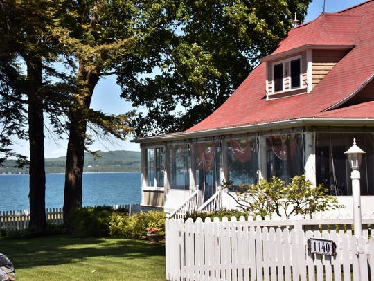 A Bay Vie cottage overlooks Little Traverse Bay Thursday,