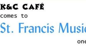 K & C Cafe is a monthly coffeehouse at St. Francis Music Center in Little Falls.