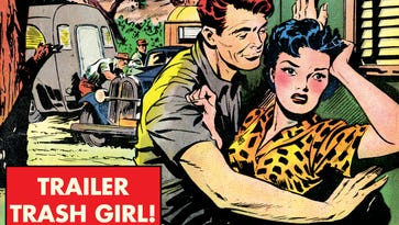 'Weird Love' features romance comics from the 50s where the heroine always learns a harsh life lesson.