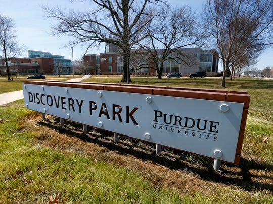 Discovery Park as seen Wednesday, March 21, 2018, from the intersection of Martin Jischke Drive and State Street on the campus of Purdue University.