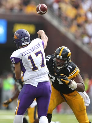 Iowa defensive tackle Carl Davis will be called upon to slow down Ball State's potent running game.