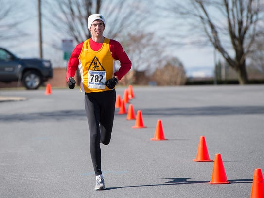 Michael Thielman finishes the race in second place