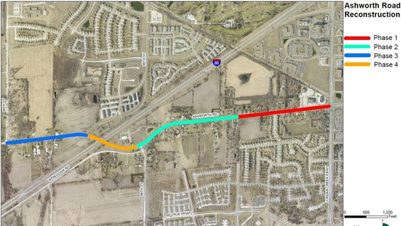A $16.2 million project to widen Ashworth Road between