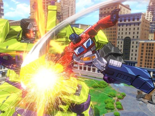 "Take on the massive Devastator in ""Transformers: Devastation."""
