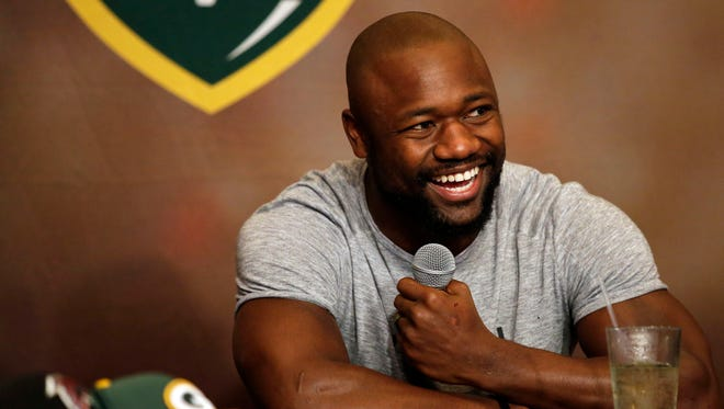 Green Bay Packers running back Ty Montgomery co-hosted Monday's Clubhouse Live. Montgomery's guest was cornerback Davon House. The show was held at The Clubhouse Sports Pub & Grill inside the Radisson Paper Valley Hotel in downtown Appleton.