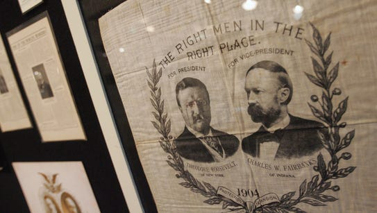Political handkerchiefs like this one of Theodore Roosevelt