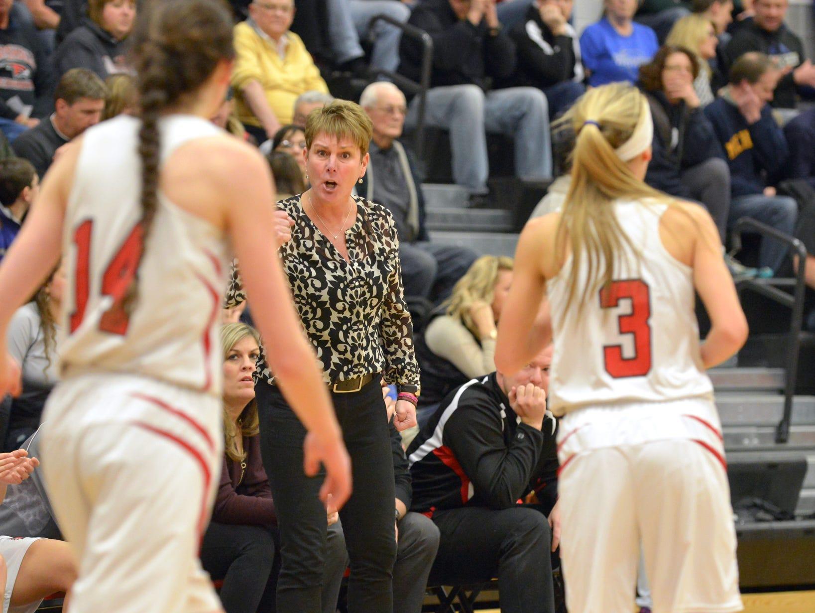 Marshall girls basketball coach Sal Konkle.