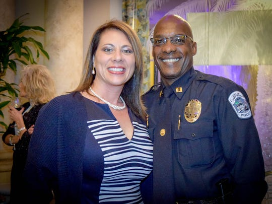 Captain Willie Dennard with wife, Robin. The Fort Myers Police Foundation hosted a Men and Women in Blue of the Year Appreciation Dinner on Saturday, January 23rd at the Colonial Country Club. This event honors the public service of the Fort Myers Police Department. All funds raised by the Police Foundation go toward purchasing life-saving equipment for the FMPD.
