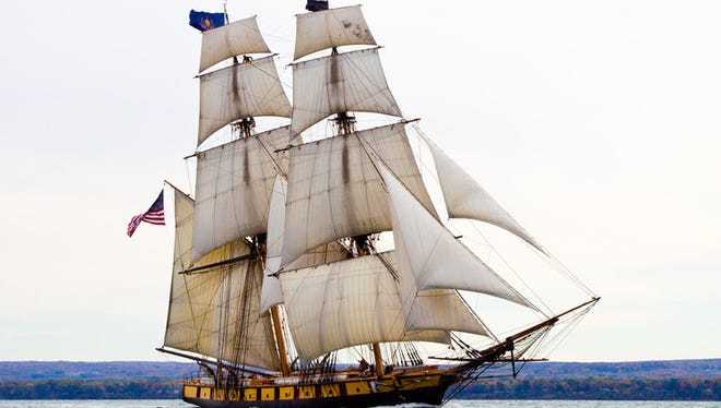 The US Brig Niagara, a replica of a War of 1812 ship, will be among a dozen tall ships visiting Bay City July 14-17.