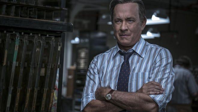 "Tom Hanks plays legendary newspaper editor Ben Bradlee in ""The Post,"" opening Friday."