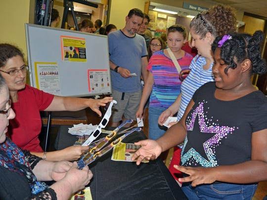 Brielle Rideau, 11, of Terry, and other guest receive