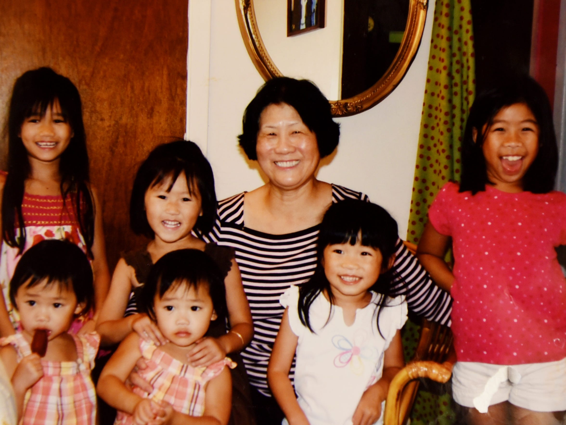Nghia Thi Hoang and her grandchildren.