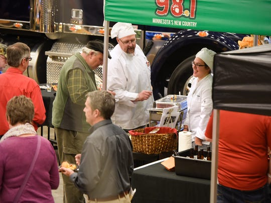 Craft beer and several varities of hotdish are served during the BrewLash event Thursday, Oct. 26, at St. Cloud Technical & Community College in St. Cloud.