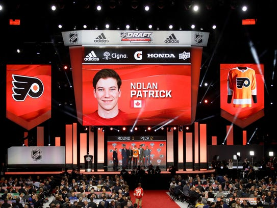 The Flyers selected Nolan Patrick with the second-overall