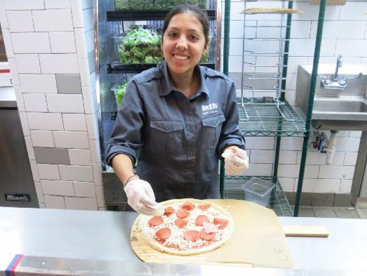 Brera Pizza & Salad Co. employee Alyssia Gauna, 18,
