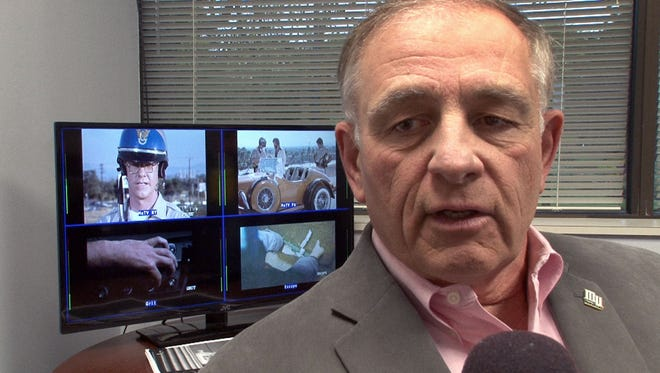 PMCM TV CEO Robert Mc Allan is interviewed after the signal was activated in 2014, for WJLP.