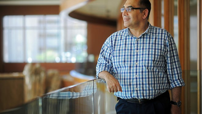 Doctor Ahmed Galal, a hematologist at Avera, poses for a portrait Thursday, Oct. 1, 2015, at the Avera Prairie Center in Sioux Falls.